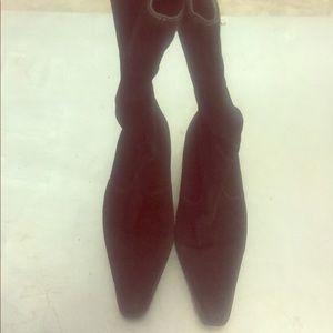 Black Suede United Colors Of Benetton boots